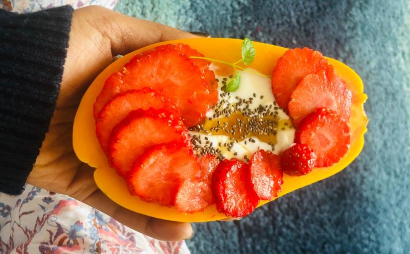 Papaya bowls
